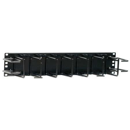 - Hubbell HC219ME3S Nextframe 2U Horizontal Cable Management Panel With 24 Wire Saddles