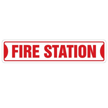 Firefighter Plaque (FIRE STATION Street Sign firefighter house fireman trucks cook | Indoor/Outdoor |  24