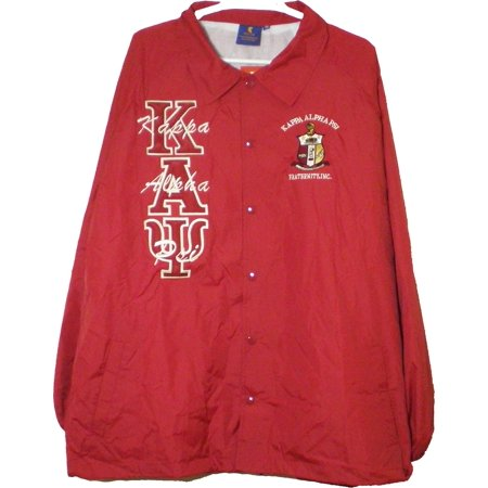 Alpha Industries Coats - Buffalo Dallas Kappa Alpha Psi Mens Crossing Line Jacket [Crimson Red - XL]