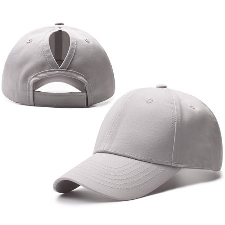 0efee31515d 2018 New Fashion Ponytail Baseball Cap Women Messy Bun Caps Adjustable  Snapback Trucker Cotton Hats Sports Outdoor - Grey - Walmart.com