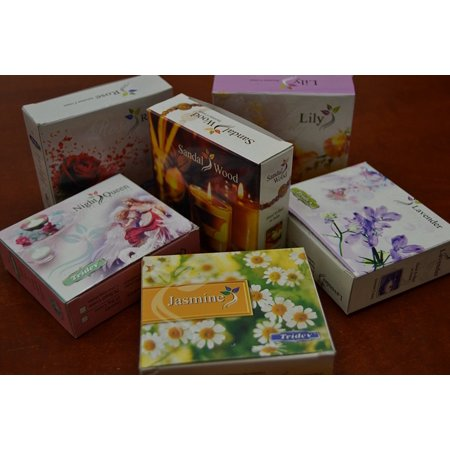 6 Boxes - Variety Incense Cones Bulk Fragrance Scent 120 Pcs, 6 boxes x 20 incense cones per box = 120 Incense Cones By MyGANN