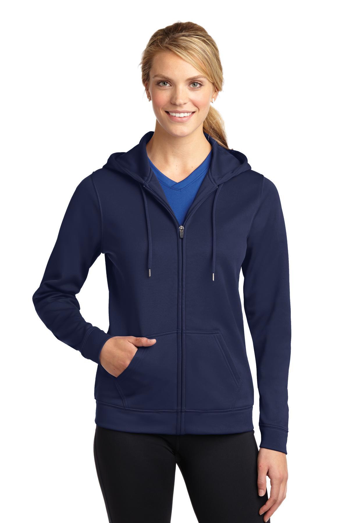 Sport-Tek Ladies Sport-Wick Fleece Full-Zip Hooded Jacket