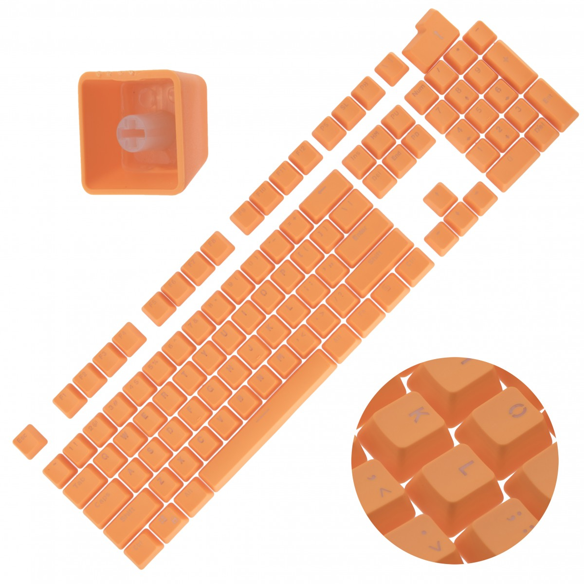 Backlit Double Shot Color Keycaps Cherry MX Mechanical Keyboard Themes Orange