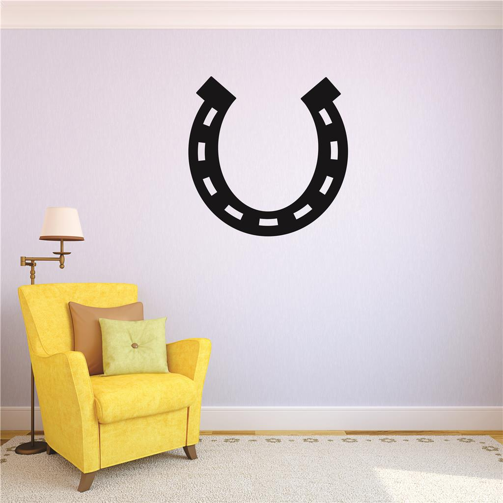 Living Room Art Western Cowboy Cowgirl Horseshoe 16x16""