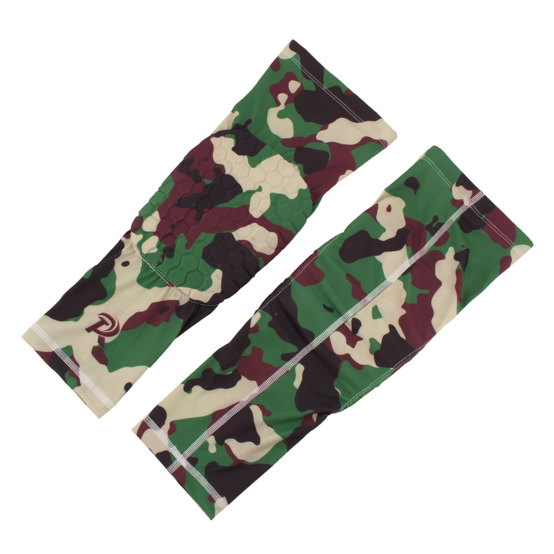 Basketball Patella Knee Brace Leg Sleeve Wrap Support Camouflage Green XL Pair - image 6 de 6