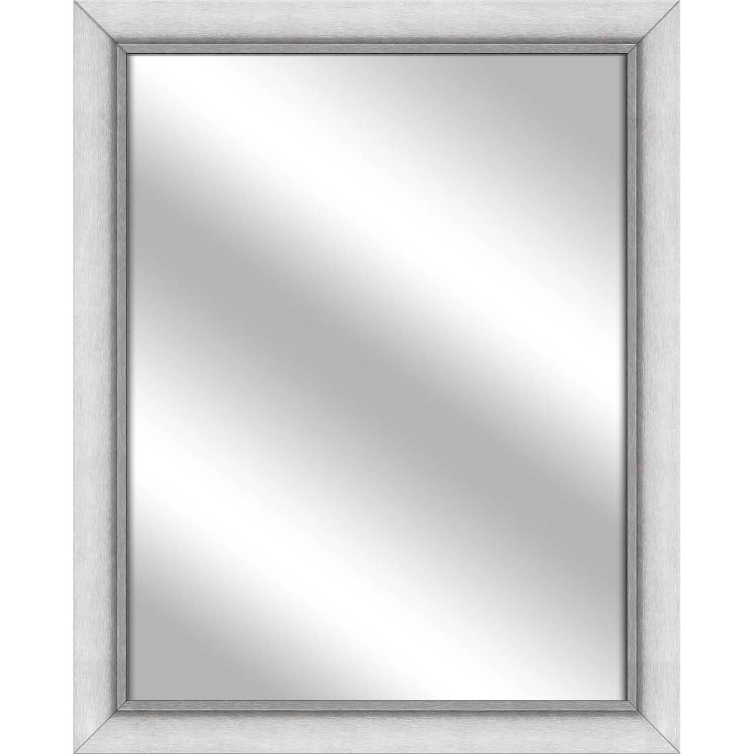 Vanity Mirror, Stainless Silver, 25.5x31.5 by PTM Images