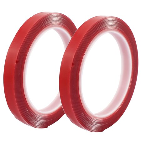 3 Acrylic Tape (2pcs 12mm x 1mm Strong Acrylic Adhesive Clear Dual-sided Glue Tape 3 Meters)