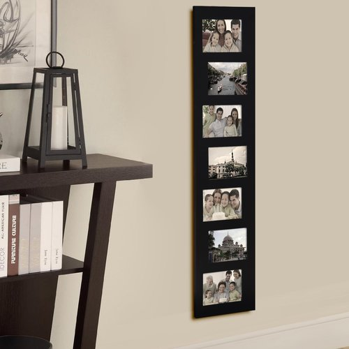Adeco Trading 7 Opening Decorative Offset Wall Hanging Collage Picture Frame