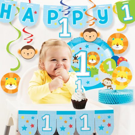 The Party Aisle One is Fun Boy First Birthday Party Decoration Kit - Birthday Decoration For Boy