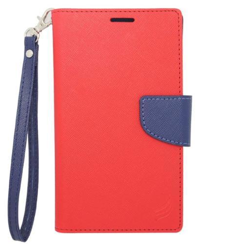 Insten Folio Leather Case For BlackBerry Z10,HTC Desire 520,LG Leon/Tribute 2,Nokia Lumia 1020/630/635/928,Galaxy Avant/Core Prime/J1/S2/S4 Mini/S5 Mini,ZTE Fanfare/Maven/Obsidian/Overture 2 - Red
