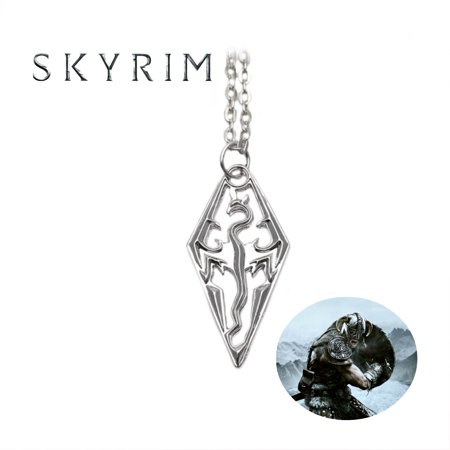 Carved Logo Pendant - Skyrim Necklace Pendant - Logo - Video Games Cosplay Jewelry by Superheroes