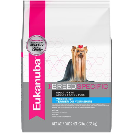 Eukanuba Breed Specific Yorkshire Terrier Nutrition Dry Dog Food, 3 Lb