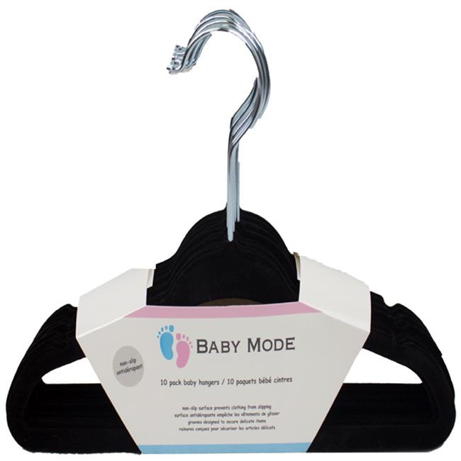 Baby Mode 7023 Hanger, Black - Pack of 10