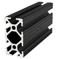 80/20 1020-BLACK-72 T-Slotted Framing Extrusion, 10 Series