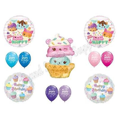 XL NUM NOMS Birthday Party Balloons Decoration Supplies 11 pc Ice Cream Cupcakes - Ice Cream Decorations