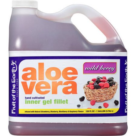 Fruit Of The Earth Aloe Vera Juice, Wild Bery, 128 Fl Oz, 1 Count ()