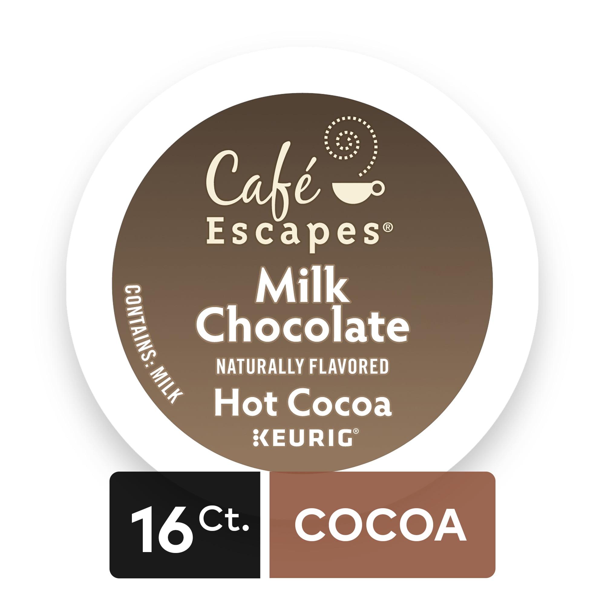 Café Escapes Milk Chocolate Hot Cocoa Keurig Single-Serve K-Cup Pods, 16 Count