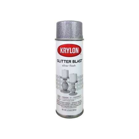 Krylon Glitter Blast Paint 5.75oz Silver Flash