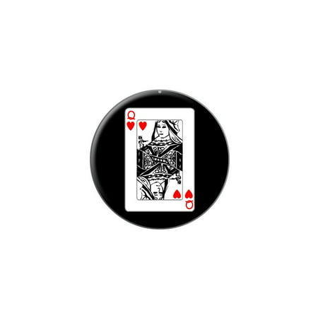 Playing Cards Queen of Hearts Lapel Hat Pin Tie Tack Small Round](Queen Of Hearts Card)