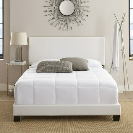 Premier Sutton Upholstered Faux Leather Platform Bed Frame, Multiple Sizes ()
