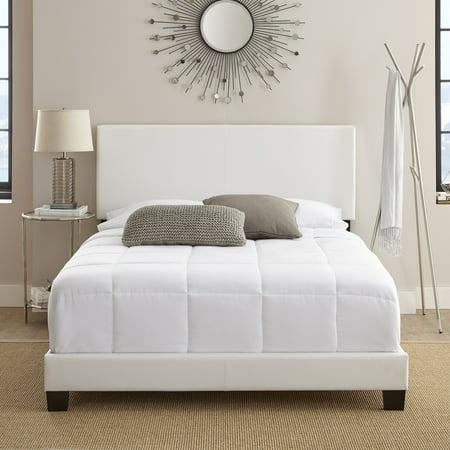 Jessica Leather Platforms - Premier Sutton Upholstered Faux Leather Platform Bed Frame, Multiple Sizes
