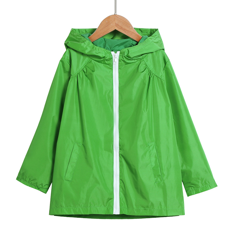 DZT1968 Toddler Baby Kid Boys Solid Zipper Jacket Windproof Hood Coat Outerwear Clothes