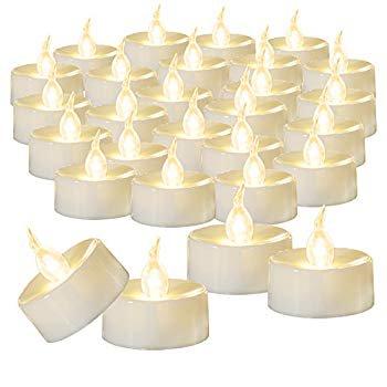 100-Pack Flameless LED Tea Light Candles Bulk, Warm White ...