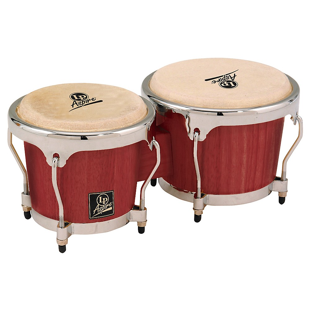 LP LPA601 Aspire Oak Bongos with Chrome Hardware Darkwood