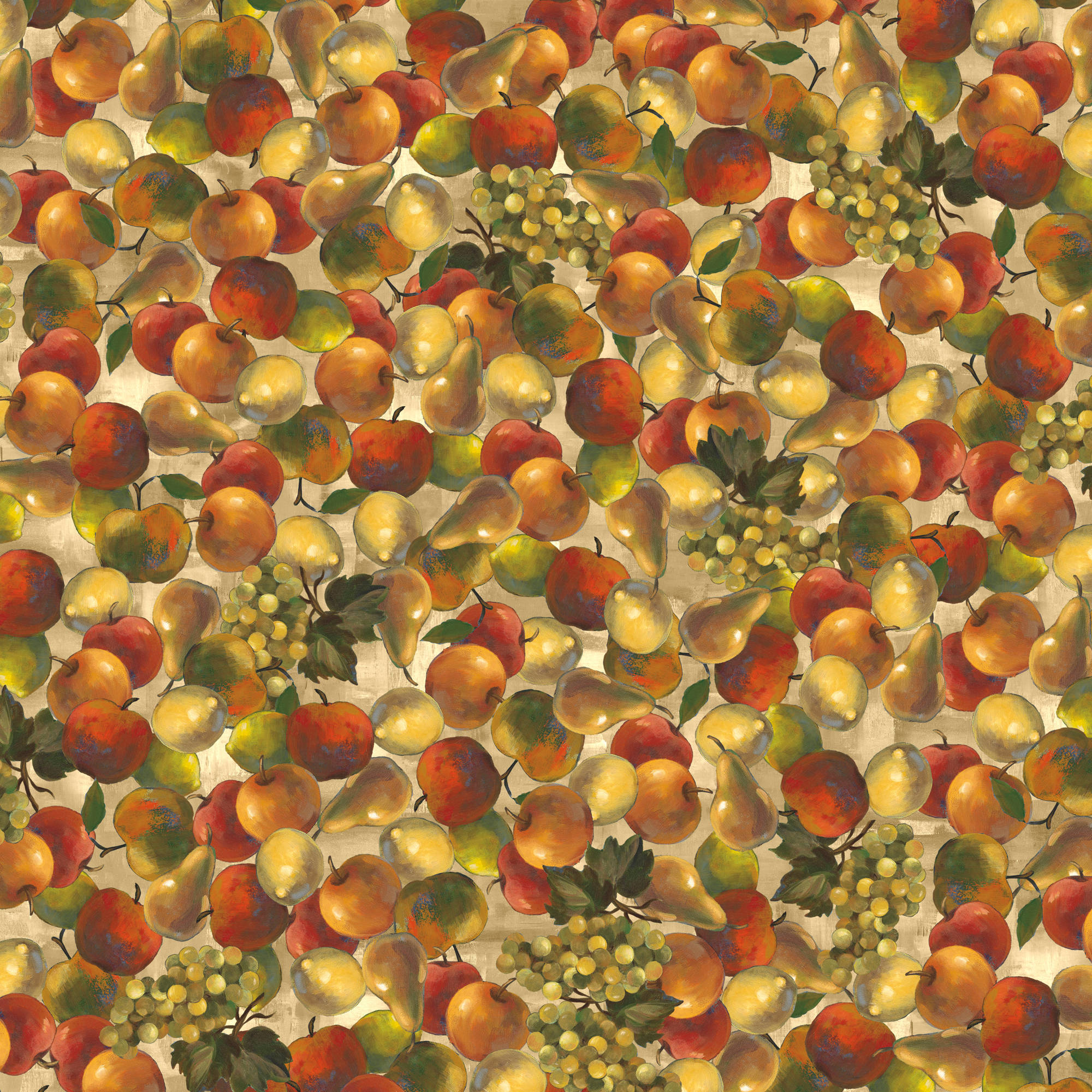 Fruits Tossed Quilting Cotton Fabric By The Yard, 44""