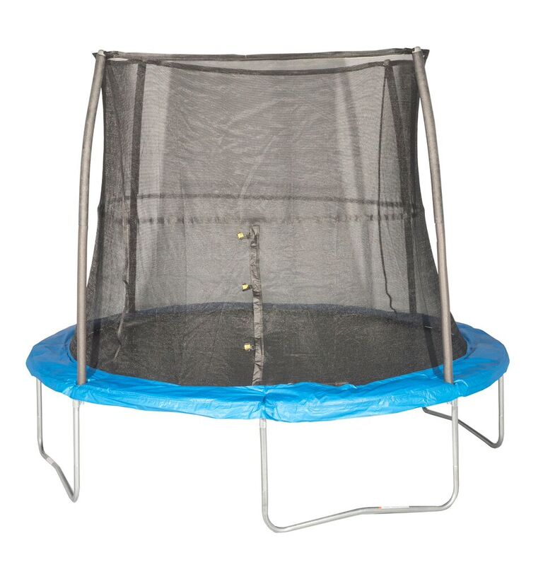 JumpKing 10 Feet Outdoor Trampoline and Safety Net Enclosure, Blue