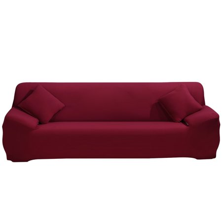 Stretch Sofa Covers 4 Seater Fabric Slipcover Protector Couch Slipcover for 4 Cushion Couch -4 seater:230cm to 300cm (90-118 inch Approx) ,With a Pillow Cover ()