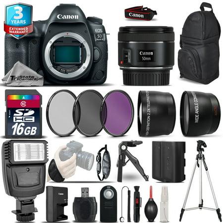 Canon EOS 5D Mark IV DSLR Camera + 50mm 1.8 STM + 2yr Warranty -Ultimate Bundle