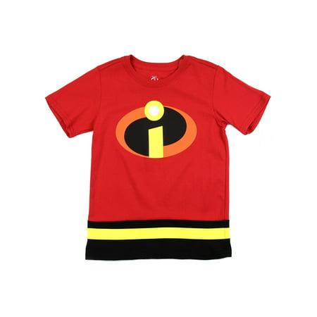 Disney Little Boys' Toddler Incredibles Logo Costume Tee (Boo Disney Costume)