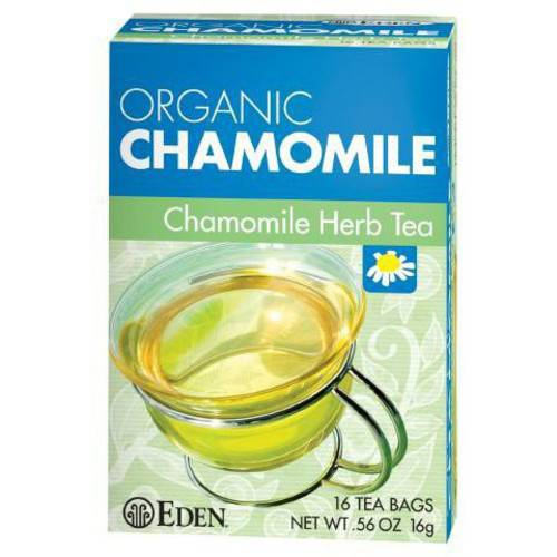 Eden Chamomile Herb Tea, Organic , 16 Count (Pack of 6)