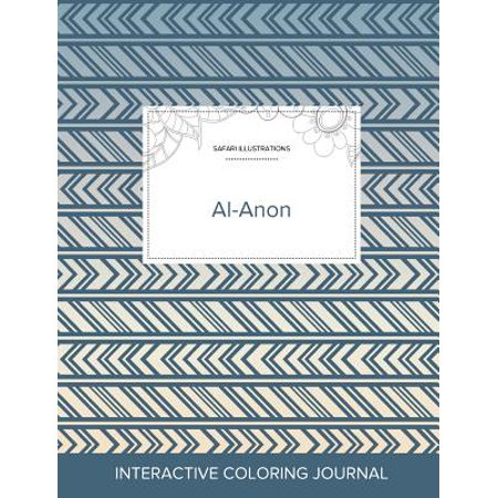 Adult Coloring Journal: Al-Anon (Safari Illustrations, Tribal) (Paperback) - Tribal Coloring Pages