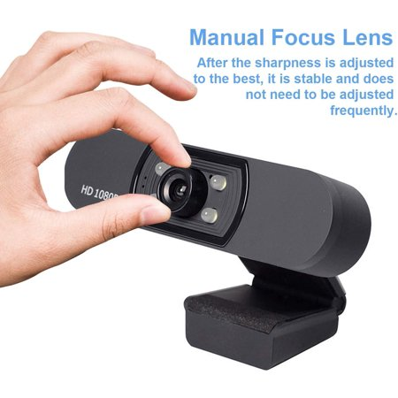 Full HD 1080P Webcam USB Webcam with Microphone Widescreen Video Camera for Computer Laptop PC - image 5 of 7