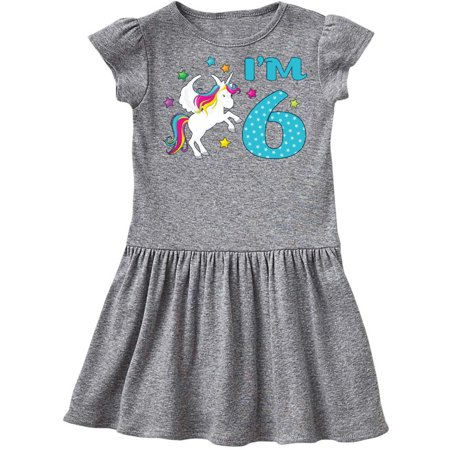 I'm Six- unicorn, - sixth birthday Toddler Dress - 6th Grade Graduation Dresses