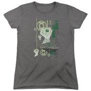 Green Lantern Core Strength Womens Short Sleeve Shirt