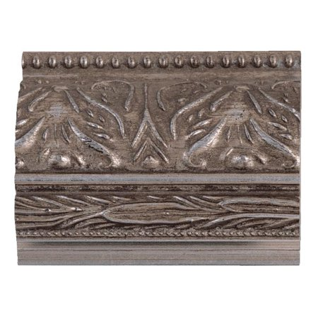 - Picture Frame Moulding (Wood) - Ornate Silver Finish - 2.5
