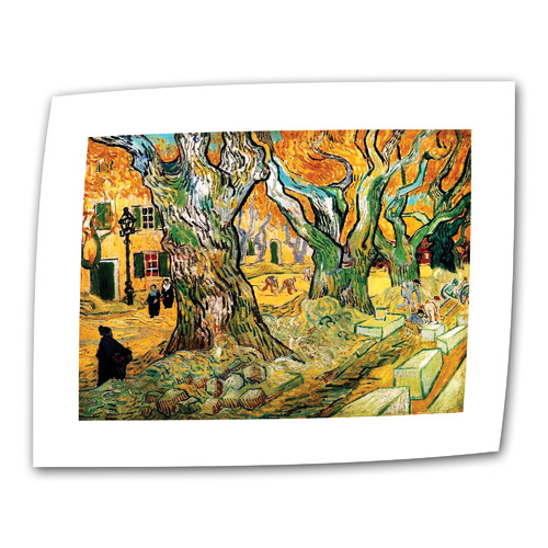 ArtWall ''The Road Menders'' by Vincent van Gogh Painting Print on Canvas