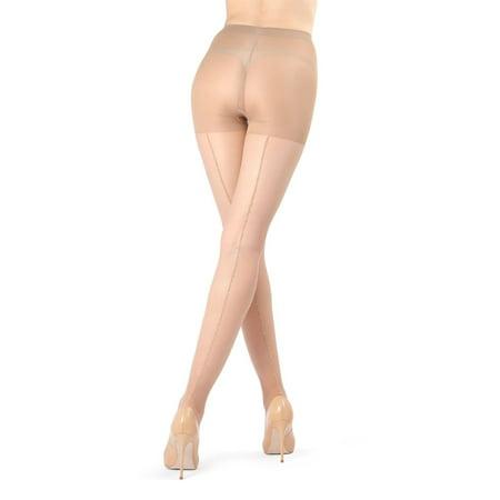 3c114b050109a Infinity - Infinity Women's Backseam Lurex Sheer Tights Nude - Walmart.com