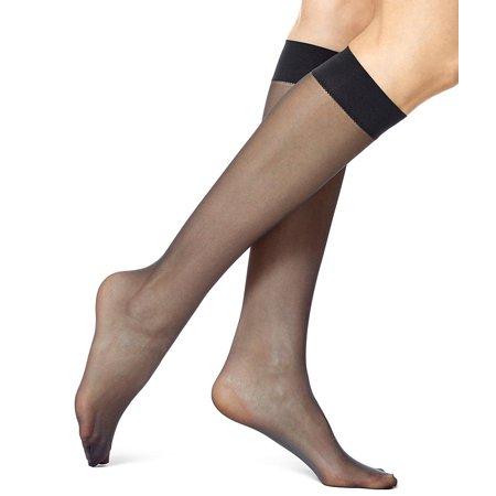 HUE Womens Sheer Knee Socks 2-Pack Style-5866 (Women ' S 2 Piece Bademode)