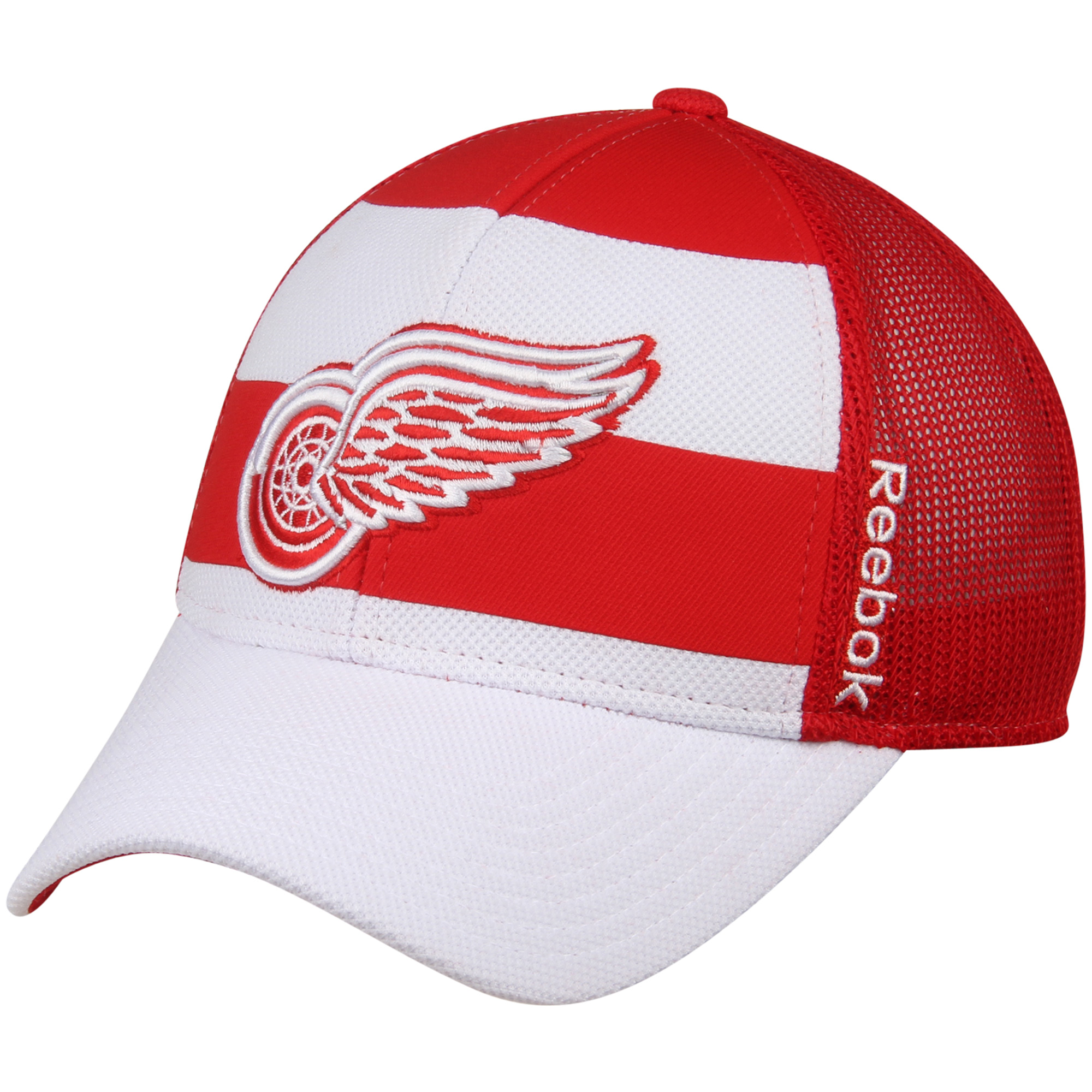Detroit Red Wings Reebok Face Off Trucker Hat - White/Red - OSFA