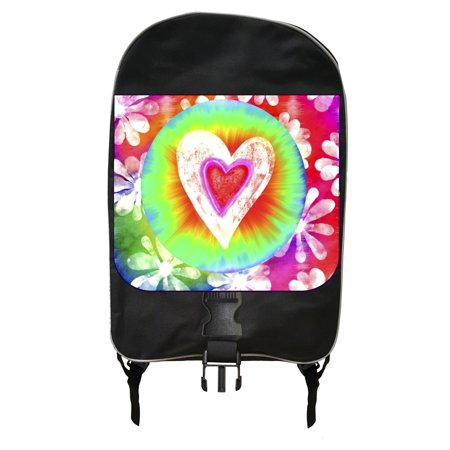 Tie Dye Bags (Tie Dye Heart - Black School Backpack & Pencil Bag)