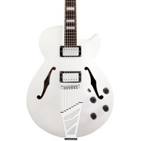 D'Angelico Premier SS Semi-Hollow Electric Guitar w/ Stairstep Tailpiece - White