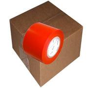 Red 7 mil UV Resistant Polyethylene Film Tape 4 inch x 60  yards 12 Roll Case
