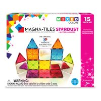 Magna-Tiles 15-Piece Stardust Set ? The Original, Award-Winning Magnetic Building Tiles ? Creativity and Educational ? STEM Approved