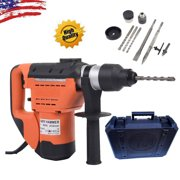 "Ktaxon 1-1/2"" SDS Drill, 1100W Heavy Duty Electric Concrete Rotary Hammer Machine, Plus Demolition Bits, Variable Speed"