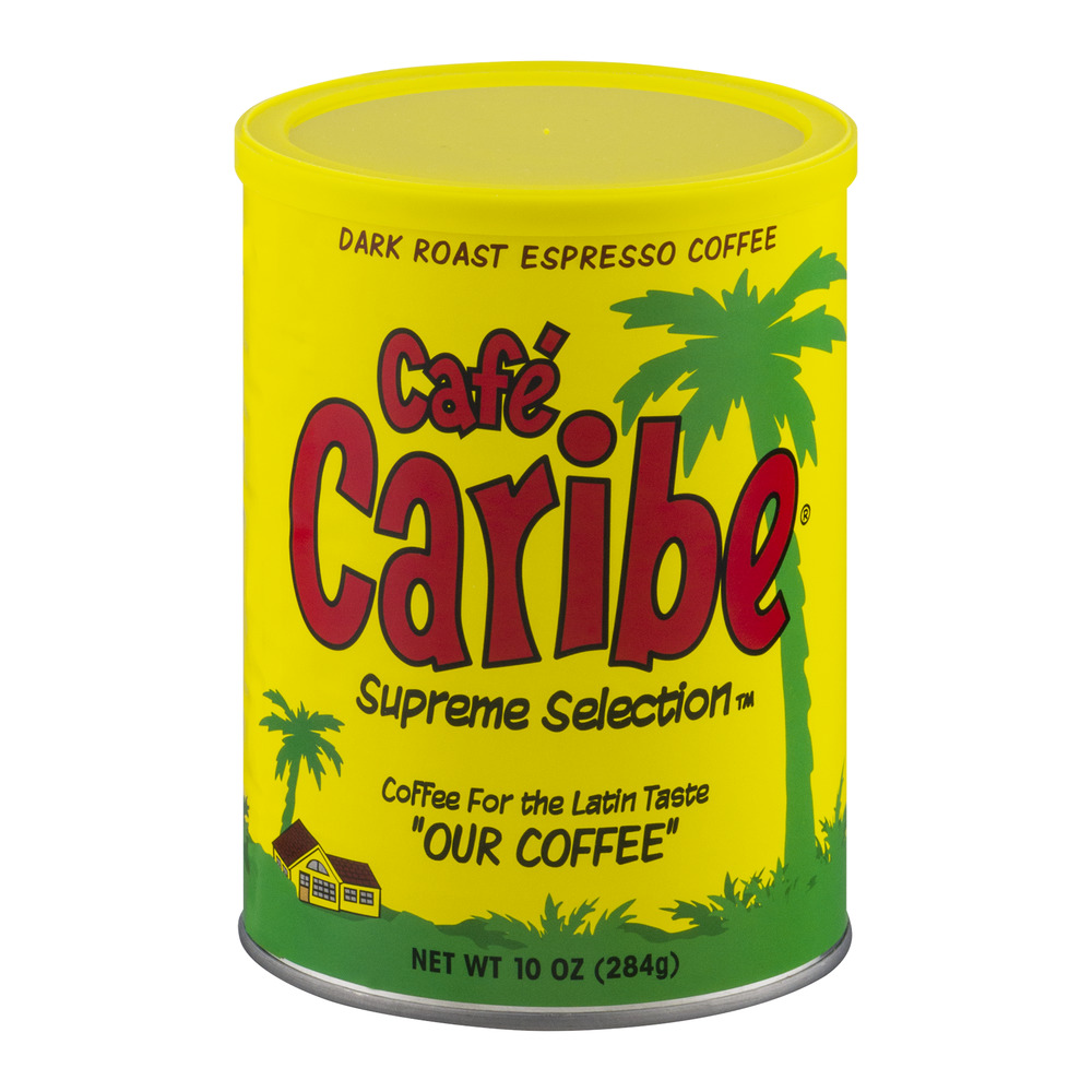 Cafe Caribe Supreme Selection Coffee for the Latin Taste Dark Roast Espresso Coffee, 10.0... by Coffee Holding Company Inc