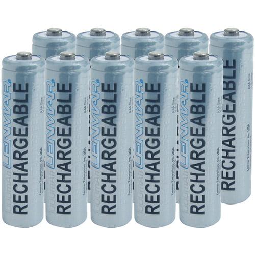 Lenmar PRO1010 PRO AAA 1.2V 1000mAh Ni-MH Batteries, 10-Pack